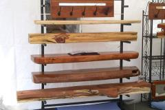 Mantels on rack