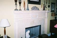 This custom mantel was built according to customer design.