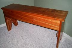 Unique Cedar Bench